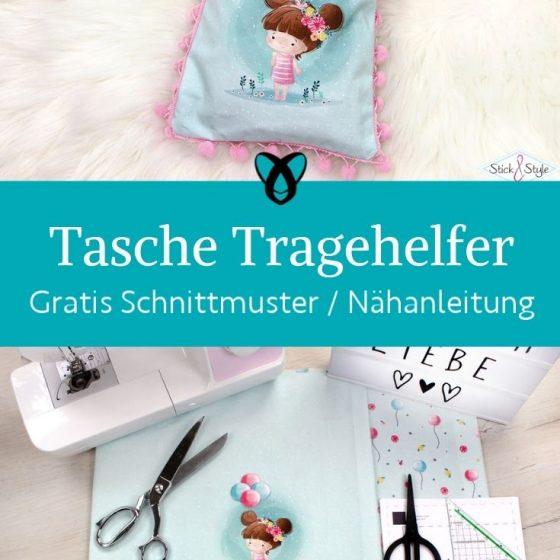 Tragetasche Kinder tragehelfer kleine Tasche buchtasche beutel einkaufstasche kaufladen spielen kostenlosen schnittmuster gratis naehanleitung