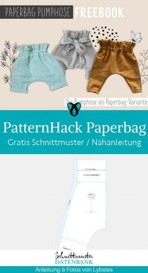 Patternhack paperbag hose kinder baby damen pumphose kostenlose schnittmuster gratis naehanleitung
