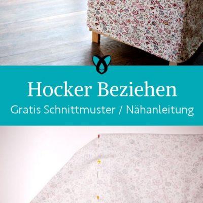 Hocker beziehen Husse naehen Stoffhusse ueberzug moebel couch sofa kostenlose schnittmuster gratis naehanleitung