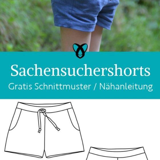Sachensuchershorts Shorts Kinder Sommerhose Baby kurze Hose Sommerkleidung Sonne kostenlose Schnittmuster gratis naehanleitung