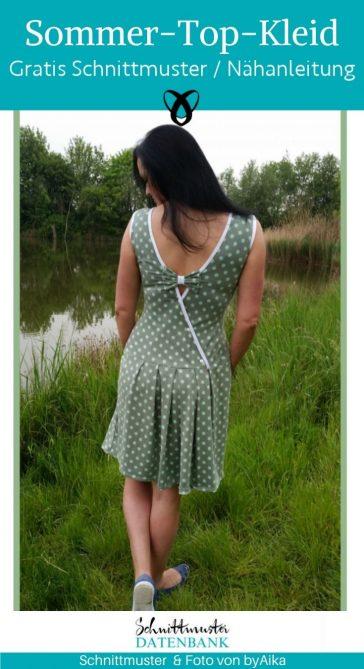 Sommer-Top-Kleid damenkleid raffinierter ruecken naehen fuer damen kleid kostenlose schnittmuster gratis naehanleitung