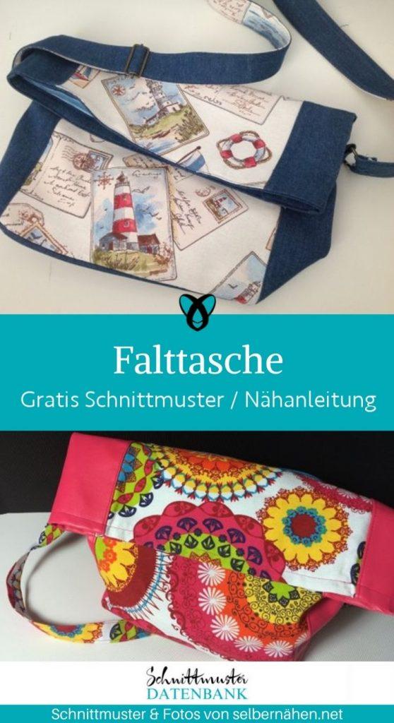 Falttasche Andrea Handtasche Bag Damenhandtasche kostenlose Schnittmuster gratis- naehanleitung