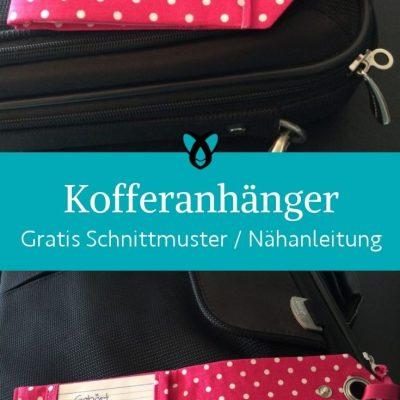 Kofferanhaenger verreisen koffer kennzeichnen namen Urlaub praktisches kostenlose schnittmuster gratis naehanleitung