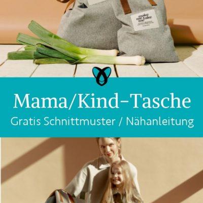 Mama kind tasche partnerlook handtasche shopper einkaufstasche jutebeutel bag kostenlose schnittmuster gratis naehanleitung