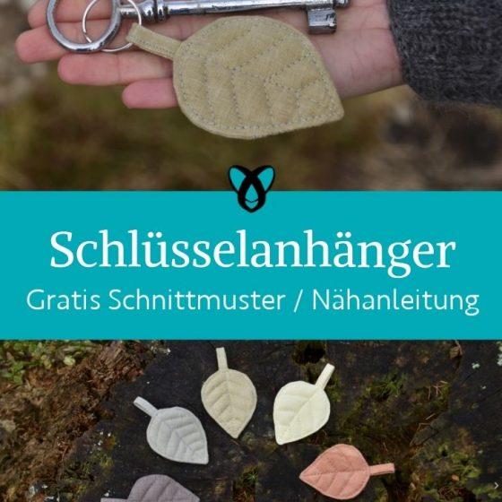 Schluesselanhaenger automno herbstblatt kleine Geschenke praktisches herbst herbstlich kostenlose schnittmuster gratis naehanleitung deko
