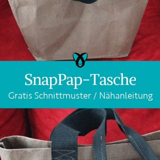SnapPap Tasche Einkaufstasche shopper shopping bag kostenlose schnittmuster gratis naehanleitung