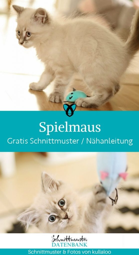 Spielmaus katzen plueschmaus katzenspielzeug haustiere beschaeftigen kostenlose schnittmuster gratis naehanleitung