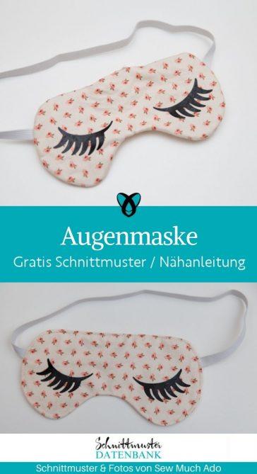augenmaske schlafmaske schlafbrille schoenheit kosmetik kostenlose schnittmuster gratis naehanleitung