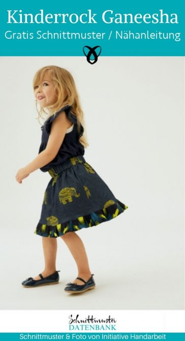 kinderrock ganeesha maedchenrock kinderkleidung rock sommerkleidung kostenlose schnittmuster gratis naehanleitung