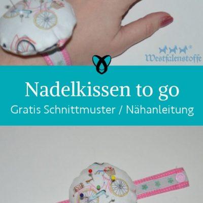 nadelkissen handgelenk to got stoffreste naehtools naehutensilien kostenlose schnittmuster gratis naehanleitung