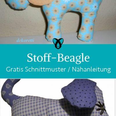 stoff beagle hund stofftier plueschtier kinderspielzeug fuer kinder kostenlose schnittmuster kuscheln gratis naehanleitung