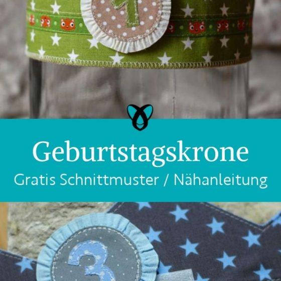 Geburtstagskrone aus stoff kindergeburtstag zahlenkrone kostenlose schnittmuster gratis naehanleitung