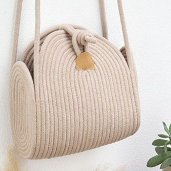Rope Bowl Tasche handtasche aus seil strick naehen accessoire boho kostenlose schnittmuster gratis naehanleitung