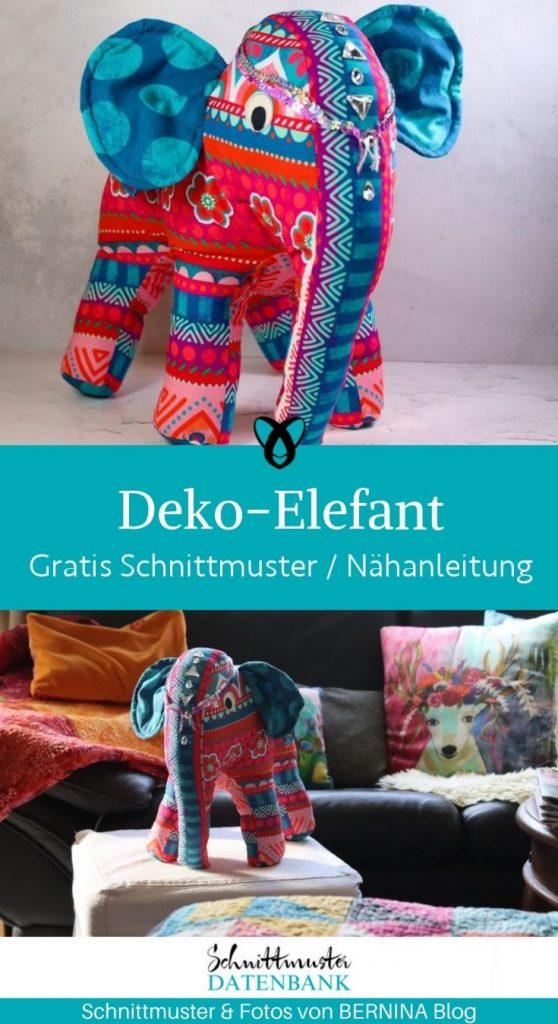 deko elefant indien dekoration zuhause kinderzimmer orient orientalisch flair asiatisch asien kostenlose schnittmuster gratis naehanleitung