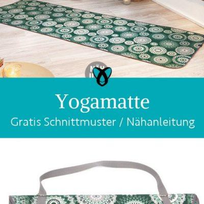 yogamatte sportmatte entspannung unterlage sport selber naehen kostenlose schnittmuster gratis naehanleitung