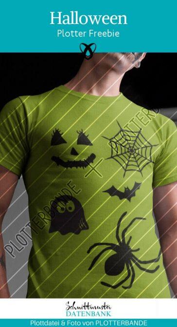 Halloween Plotterfreebie gespenst geist spinne spinnennetz gruselig erschrecken kostenlose Plottdatei fledermaus