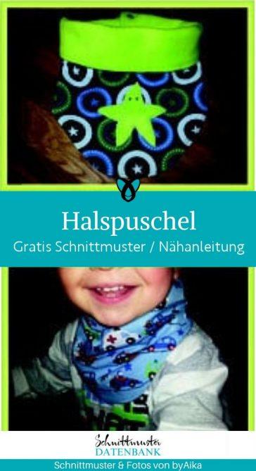 Halstuch Halspuschel Halssocke Accessoires Kinder Winter Herbst warmer Hals Loop kostenlose schnittmuster gratis naehanleitung