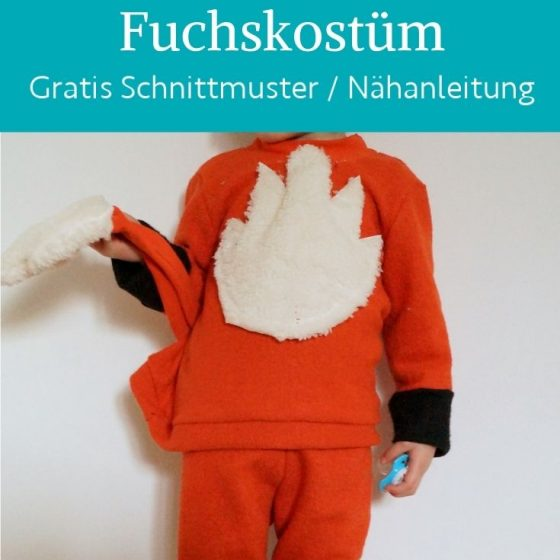fuchskostuem fasching halloween fuchs verkleiden kostuem kinder kostenlose schnittmuster gratis naehanleitung