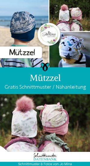 muetzzel muetze kindermuetze accessoires kind kinder herbst winter kleidung naehen kostenlose schnittmuster gratis naehanleitung