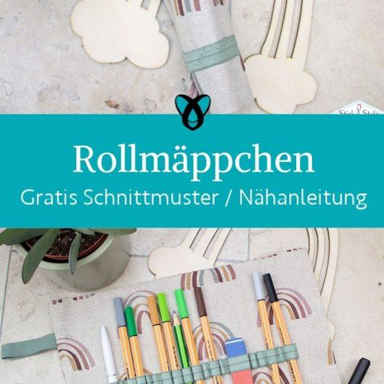 rollmaeppchen stiftemaeppchen zum rollen stifte aufbewahrung etui kostenlose schnittmuster gratis naehanleitung freebook