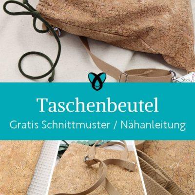 taschenbeutel korktasche rucksack tasche beutel handtasche shopper kostenlose schnittmuster gratis naehanleitung